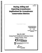 Buying  Selling and Exporting Groundwater PDF