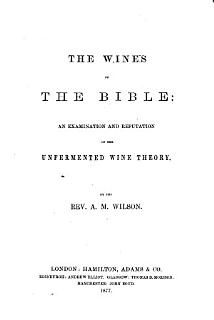The Wines of the Bible Book