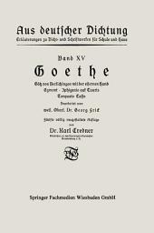 Goethe: Götz von Berlichingen mit der eisernen Hand Egmont · Iphigenie auf Tauris Torquato Tasso, Ausgabe 5