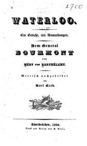 Waterloo: ein gedicht, mit anmerkungen