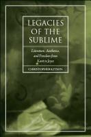 Legacies of the Sublime PDF