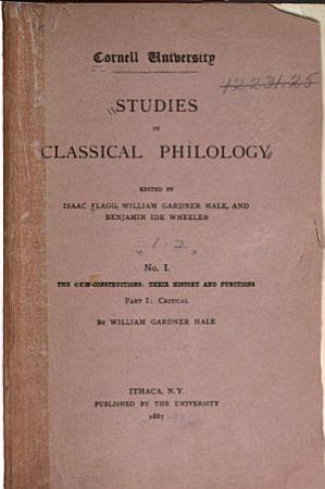 Cornell Studies in Classical Philology PDF