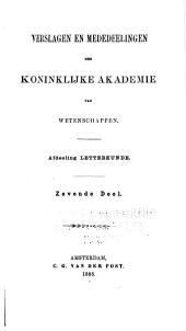 Mededelingen der Koninklijke Nederlandse Akademie van Wetenschappen, Afdeeling Letterkunde: Volumes 7-8
