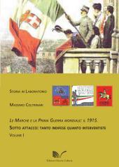 Le Marche e la Prima Guerra Mondiale: il 1915: SOTTO ATTACCO: TANTO INDIFESE QUANTO INTERVENTISTE VOLUME I