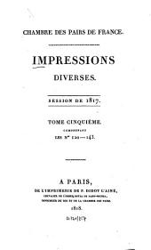 Impressions diverses: session ... 1817,5 (1818)