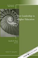 Peer Leadership in Higher Education