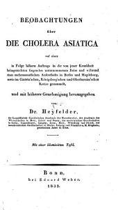 Beobachtungen über Die Cholera Asiatica: 1