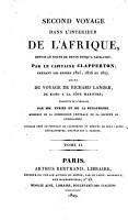 Second voyage dans l int  rieur de l Afrique  depuis le golfe de Benin jusqu    Sackatou      pendant les ann  es 1825  1826 et 1827 PDF