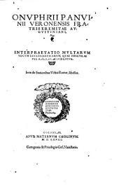Interpretatio multarum vocum ecclesiasticarum, quae obscurae vel barbarae videntur
