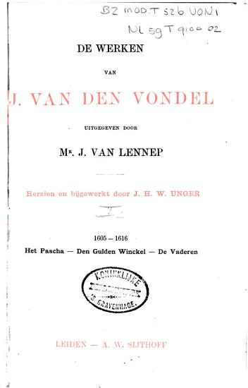 De werken van J  van den Vondel PDF