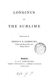 Longinus on the sublime, tr. by T.R.R. Stebbing
