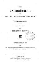 Neue Jahrb  cher f  r Philologie und P  dagogik PDF