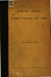 Mahuan's Account of Cochin, Calicut and Aden