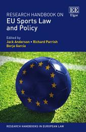 Research Handbook on EU Sports Law and Policy