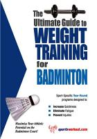 The Ultimate Guide to Weight Training for Badminton PDF