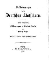 Erläuterungen zu Goethes Werken: Bände 31-32