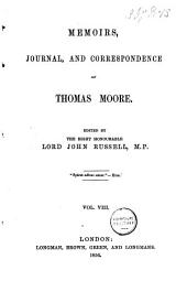 Memoirs, Journal, and Correspondence of Thomas Moore: Diary. Letters. Postscript. Index