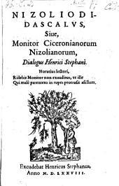 Nizoliodidascalus, sive monitor Ciceronianorum Nizolianorum