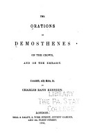 The Orations of Demosthenes      On the crown and On the embassy PDF