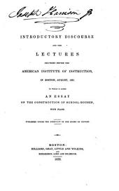 The Introductory Discourse and Lectures ...