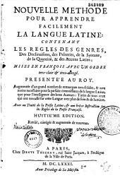 Nouvelle méthode pour apprendre facilement la langue latine