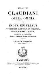 Claudii Claudiani opera omnia: Volume 2