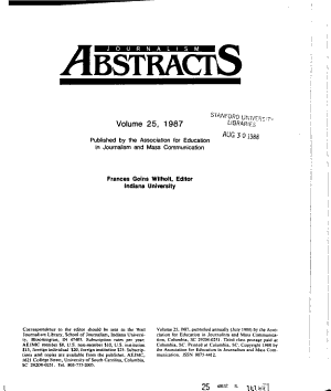Journalism Abstracts PDF