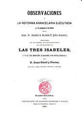 Observaciones a la Reforma Arancelaria ejecutada y a la propuesta a las Cortes por el Excmo Sr. Ministro de Hacienda D. Pedro Salaverria etc