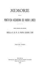 Memorie della Pontificia accademia dei Nuovi Lincei: Volumi 1-2