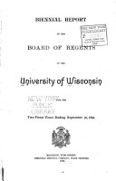 Annual Report of the Board of Regents of the University of Wisconsin  for the Fiscal Year Ending September 30     PDF