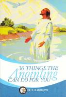 30 Things Anointing can do For You PDF