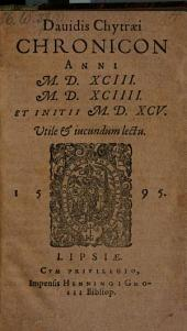 Chronicon anni 1593.1594. et initii 1595