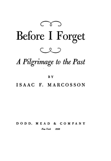 Before I Forget Book