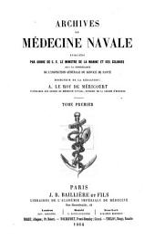 Archives de médecine navale: Volume 1