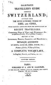 Galignani's traveller's guide through Switzerland