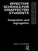 Effective Schools for Disaffected Students PDF