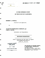California. Supreme Court. Records and Briefs: S028604, Petition for Review