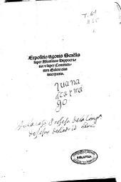 Expositio Vgonis Sene[n]sis super Aforismos Hippocratis & super Commentum Galeni eius interpretis