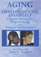 Aging and Developmental Disability PDF