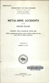 Metal-mine accidents in the United States during the calendar year 1918