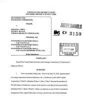Securities and Exchange Commission Litigation Complaint: April 25, 2006