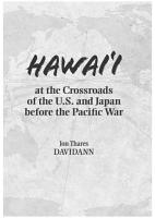 Hawaii at the Crossroads of the U S  and Japan before the Pacific War PDF