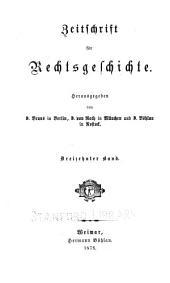 Zeitschrift für Rechtsgeschichte: Band 13