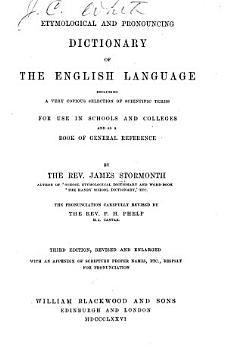 Etymological and Pronouncing Dictionary of the English Language PDF