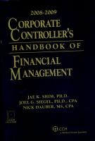 Corporate Controller s Handbook of Financial Management 2008 2009 PDF