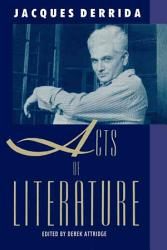 Acts Of Literature Book PDF