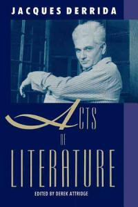 Acts of Literature Book