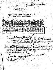 Corona dela Virgine Maria siue Sete alegreze PDF