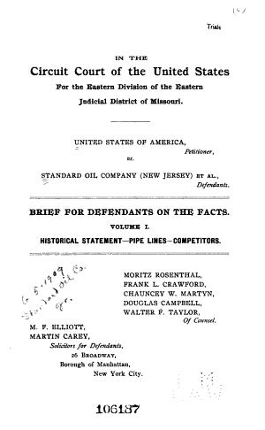 United States of America  Petitioner  V  Standard Oil Company of New Jersey  Et Al   Defendants      PDF