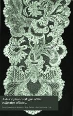 A Descriptive Catalogue of the Collection of Lace in the South Kensington Museum